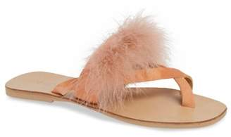 Topshop Holly Fluff Slide Sandal (Women)