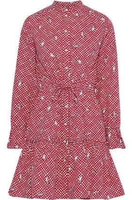 Saloni Billie Printed Cotton-poplin Mini Dress