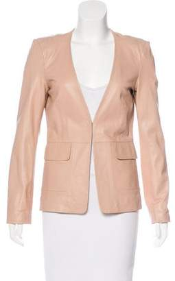 Philosophy di Alberta Ferretti Leather V-Neck Jacket