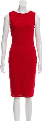 Christian Dior Open Knit Midi Dress