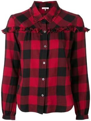 Frame ruffle check shirt