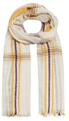 MANGO Check print scarf