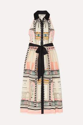 Temperley London Obelisk Printed Stretch-cotton Midi Dress - Cream