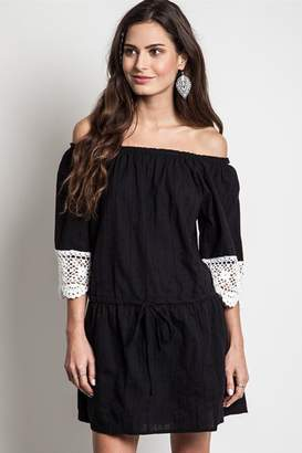 People Outfitter Black Crochet Dress