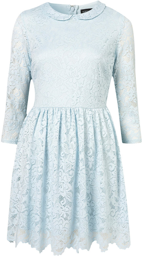 Crochet Collar Lace Dress