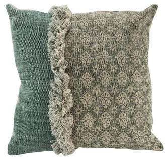 A&B Home Square Throw Pillow, 100% Cotton, 20 by 20-Inch