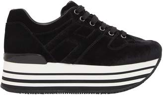 Hogan 70mm Maxi 222 Velvet Sneakers