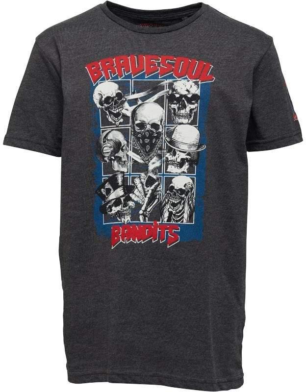 Junior Boys Bandit Graphic T-Shirt Grey