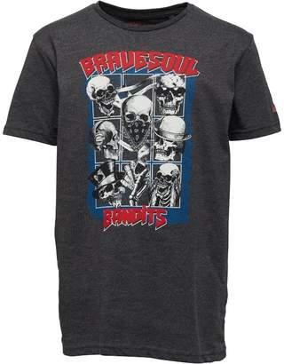 Brave Soul Junior Boys Bandit Graphic T-Shirt Grey