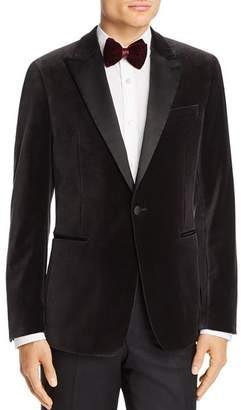 Theory Chambers Velvet Slim Fit Tuxedo Jacket