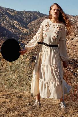 Urban Outfitters Bohemian Embroidered Maxi Dress