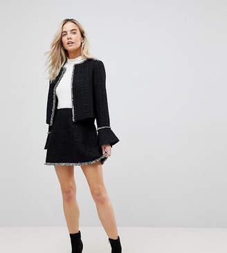 Vero Moda Petite Mini Skirt With Frayed Edge
