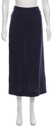 Hermes Linen Midi Skirt