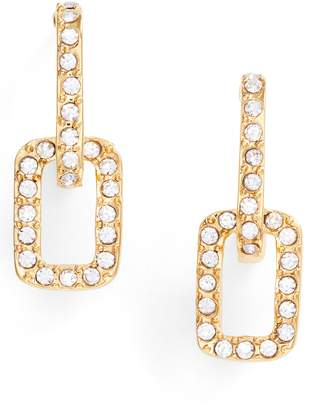 Vince Camuto Pave Link Stud Earrings