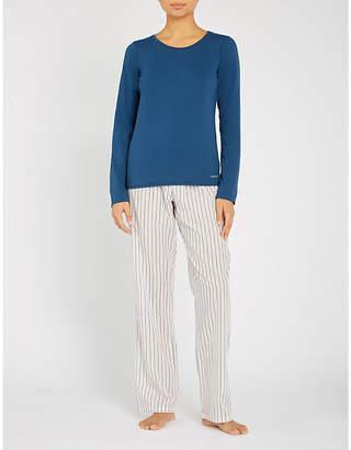Calvin Klein Stretch-cotton pyjama set with bag