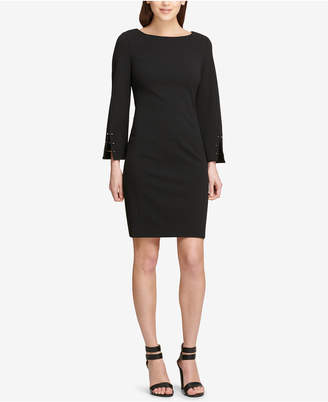 DKNY Long-Sleeve Sheath Dress