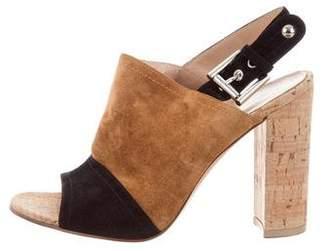 Gianvito Rossi Bicolor Slingback Sandals