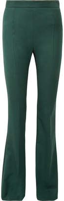 Pierre Balmain Wool-twill Flared Pants - Green