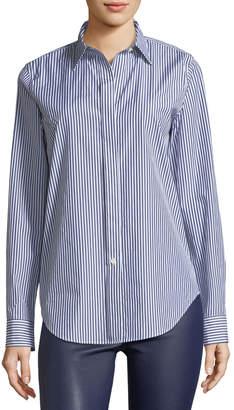 Theory Essential Button-Down Hartman Stripe Shirt