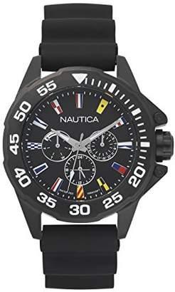 Nautica Men's 'MIAMI' Quartz Stainless Steel and Silicone Sport Watch