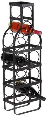 DecMode Decmode Contemporary 30 X 6 Inch Bottle-Shaped Iron Wine Rack