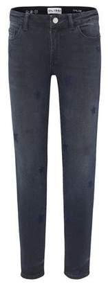 DL1961 Premium Denim Chloe Dark Wash Star Embroidered Denim Jeans, Size 7-16