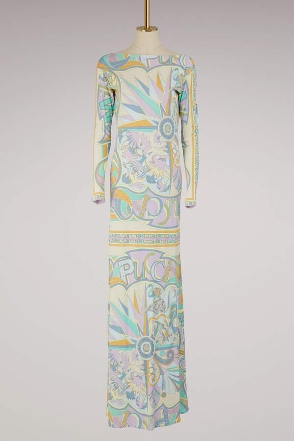 Emilio Pucci Miami printed maxi dress
