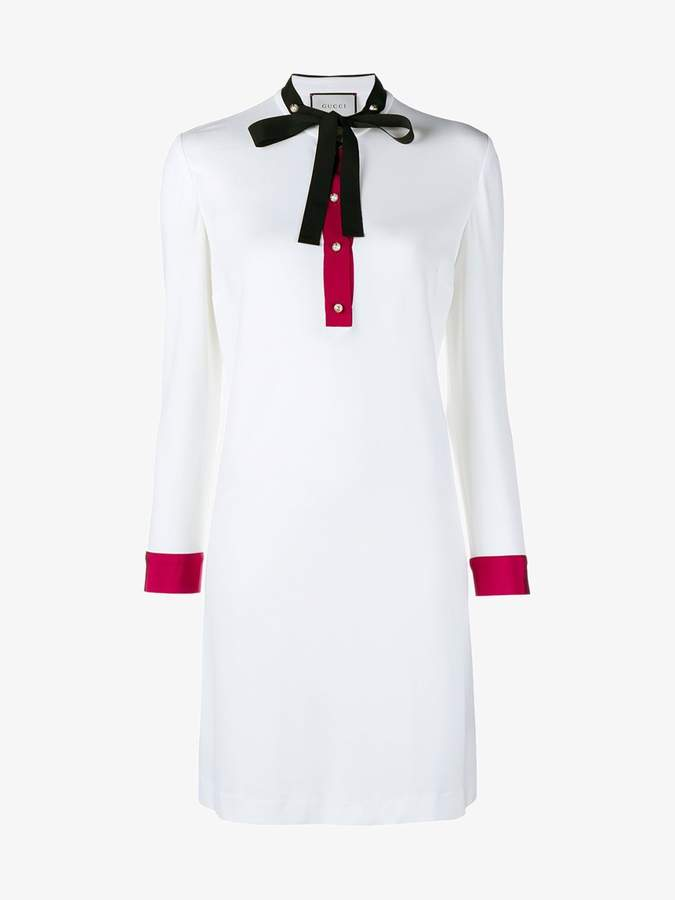 Gucci ribbon-trimmed shift dress