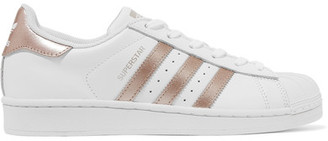 adidas Originals - Superstar Matte And Metallic-leather Sneakers - White $80 thestylecure.com