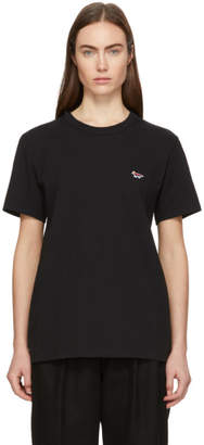 MAISON KITSUNÉ SSENSE Exclusive Black Rainbow Fox Patch T-Shirt