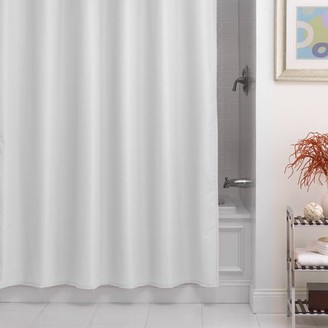 Excell Pierce Fabric Microfiber Shower Curtain Liner
