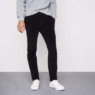 River Island Black cord skinny smart pants