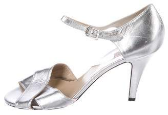 Michael Kors Metallic Crossover Sandals
