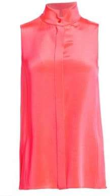 Akris Women's Sleeveless Silk Crepe Blouse - Neon - Size 6