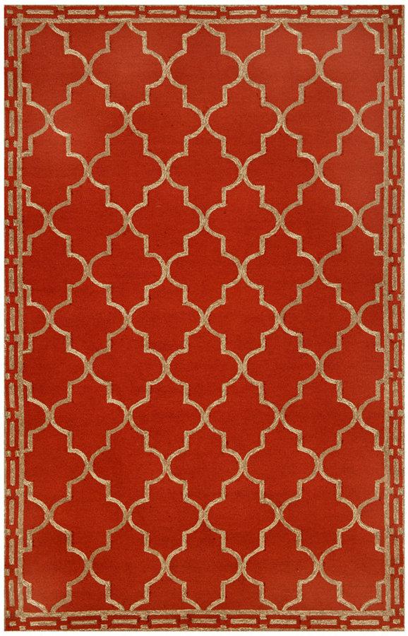 """Liora Manné Area Rug, Indoor/Outdoor Promenade 1976/24 Floor Tile Red 5' x 7'6"""""""