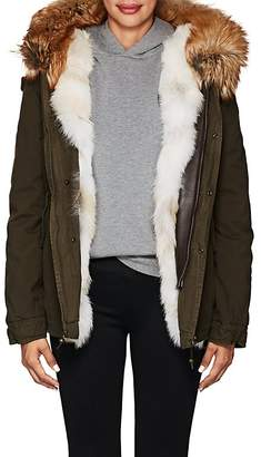Mr & Mrs Italy Women's Fur-Trimmed Canvas Coat