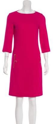Michael Kors Long Sleeve Knee-Length Dress