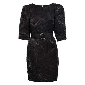 Nissa Evening Dress With Shiny Effect & Waist Belt