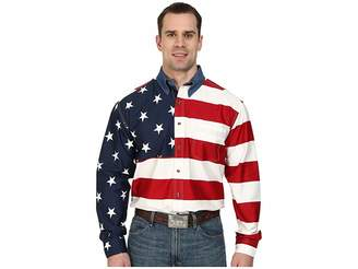 Roper Stars Stripes Pieced Flag Shirt L/S