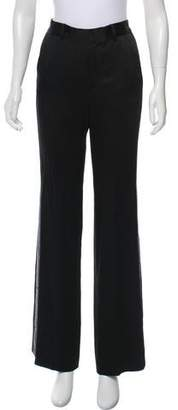 Bella Freud Mid-Rise Wide-Leg Pants