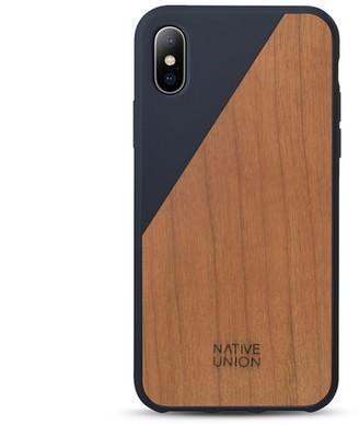 Native Union CLIC Wooden iPhone X case - Marine/Cherry
