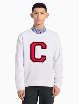 Calvin Klein cotton knit c-badge sweatshirt