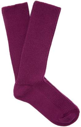 Isabel Marant Ribbed Cotton Blend Socks - Womens - Purple