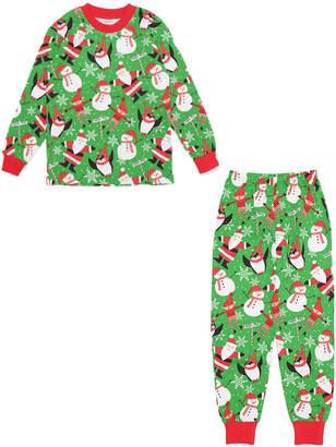 Sara's Prints プリント パジャマ グリーンクリスマス 5