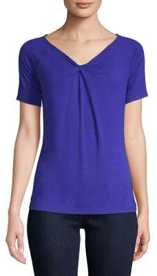 Lord & Taylor Short-Sleeve Iconic Fit Twist-Neck Tee