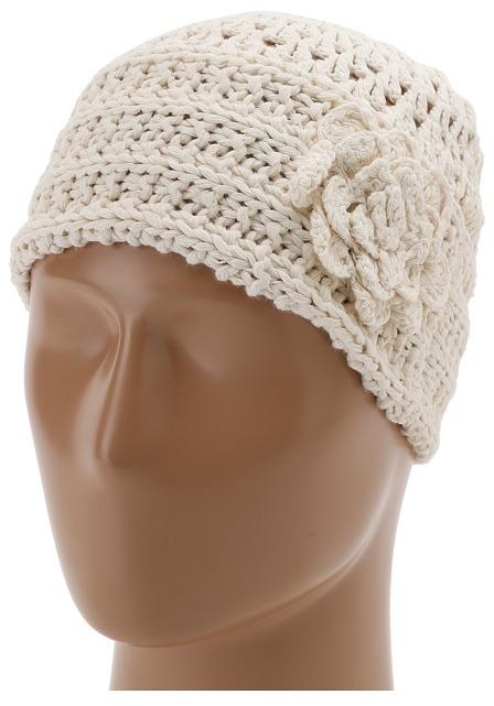 San Diego Hat Company REC1002 Recycled Yarn Flower Beanie