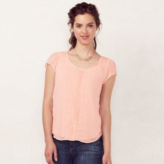 Women's LC Lauren Conrad Swiss Dot Top $40 thestylecure.com