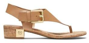 MICHAEL Michael Kors London Thong-Toe Leather Sandals