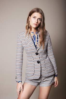 Smythe Modern Checkered Blazer