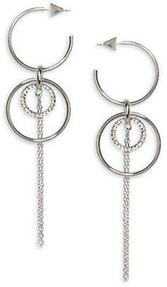 Vince Camuto Orbit Hoop Fringe Drop Earrings